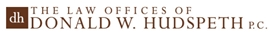 Firm Logo for The Law Offices of <br />Donald W. Hudspeth, P.C.