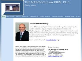 The Marovich Law Firm, P.L.C. Law Firm Logo