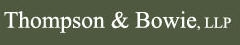 Thompson & Bowie, LLP Law Firm Logo