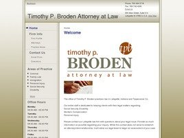 Firm Logo for Timothy P. Broden Attorney at Law