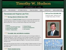 Firm Logo for Timothy W. Hudson, Attorney at Law