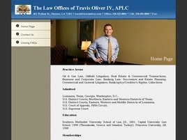 Firm Logo for The Law Offices of <br />Travis Oliver IV, APLC