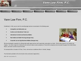 Vann Law Firm, P.C. Law Firm Logo