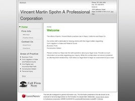 Firm Logo for Vincent Martin Spohn A Professional Corporation