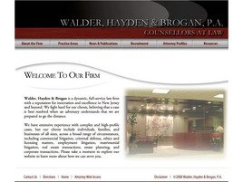 Walder, Hayden & Brogan, P.A. Law Firm Logo