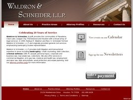 Waldron & Schneider, L.L.P. Law Firm Logo