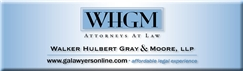 Firm Logo for Walker Hulbert Gray Moore LLP
