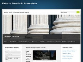 Walter A. Costello, Jr. <br />& Associates Law Firm Logo