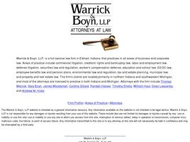 Warrick & Boyn, L.L.P. Law Firm Logo