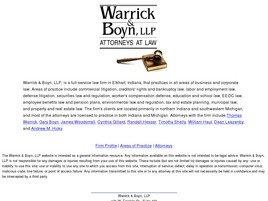 Firm Logo for Warrick Boyn L.L.P.