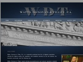 Watts, Donovan & Tilley, P.A. Law Firm Logo