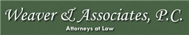 Weaver & Associates, P.C. Law Firm Logo