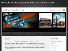 Firm Logo for Wilson Harrell Farrington Ford Wilson Spain Parsons P.A.
