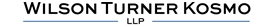 Wilson Turner Kosmo LLP Law Firm Logo