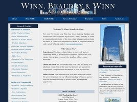 Winn, Beaudry & Winn <br />Attorneys at Law Law Firm Logo