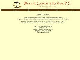 Firm Logo for Womack, Gottlieb & Rodham, P.C.