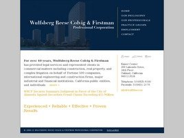 Wulfsberg Reese Colvig & Firstman <br />Professional Corporation Law Firm Logo